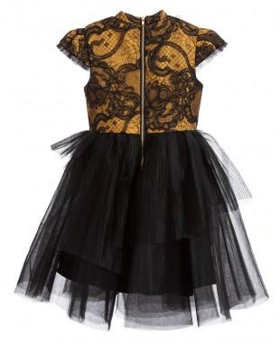 黑金珍珠公主裙花童裙