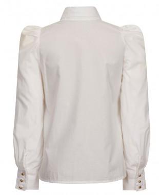 白色大蝴蝶结棉衬衣